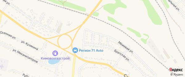 Межевой переулок на карте Узловой с номерами домов