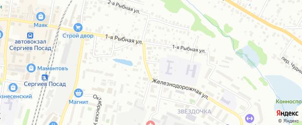 Железнодорожный переулок на карте Сергиева Посада с номерами домов