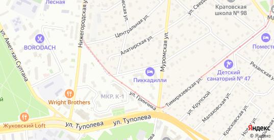 Люберецкая улица в Жуковском с номерами домов на карте. Спутник и схема онлайн