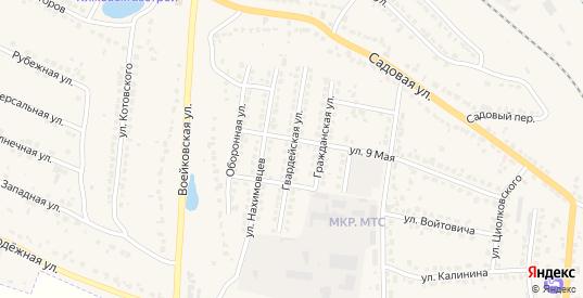 Гвардейская улица в Узловой с номерами домов на карте. Спутник и схема онлайн