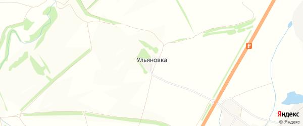 Карта деревни Ульяновки в Тульской области с улицами и номерами домов