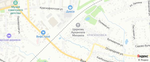 Березовый переулок на карте Сергиева Посада Московской области с номерами домов