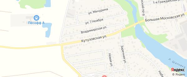 Кутузовская улица на карте Старой Купавны с номерами домов