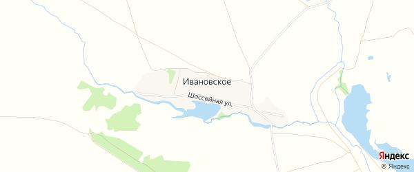 Карта деревни Ивановского в Тульской области с улицами и номерами домов