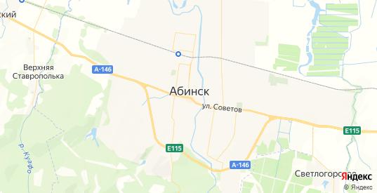 Карта Абинска с улицами и домами подробная. Показать со спутника номера домов онлайн