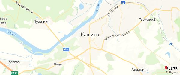 Карта Каширы с районами, улицами и номерами домов