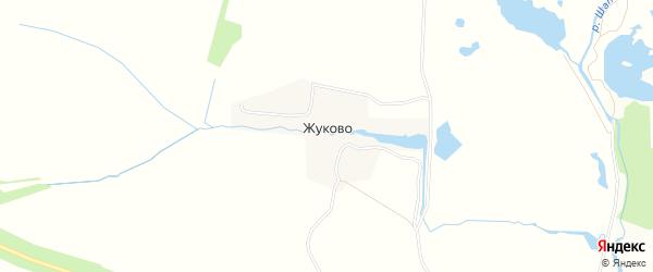 Карта деревни Жуково в Тульской области с улицами и номерами домов