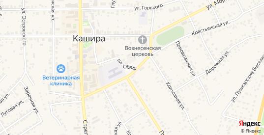 Площадь Облог в Кашире с номерами домов на карте. Спутник и схема онлайн