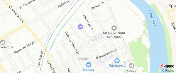 Улица Строителей на карте Славянска-на-Кубани с номерами домов