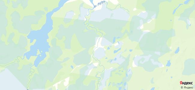 Уна на карте