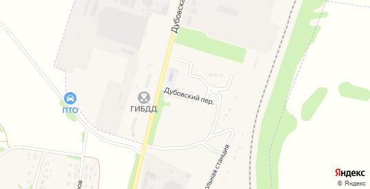 Дубовский переулок в Узловой с номерами домов на карте. Спутник и схема онлайн