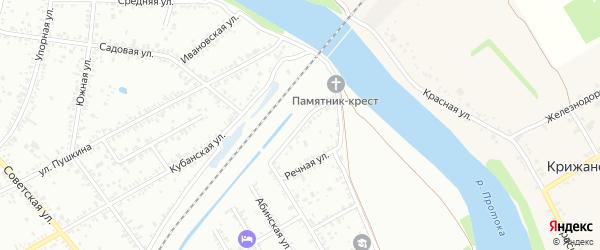 Низовская улица на карте Славянска-на-Кубани с номерами домов