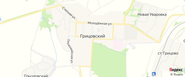 Карта Грицовского поселка в Тульской области с улицами и номерами домов