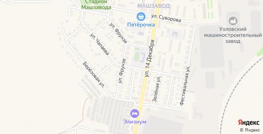 Улица Чапаева в Узловой с номерами домов на карте. Спутник и схема онлайн