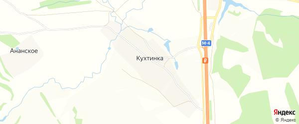 Карта деревни Кухтинки в Тульской области с улицами и номерами домов