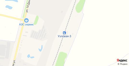Станция Узловая-3 в Узловой с номерами домов на карте. Спутник и схема онлайн