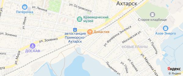 Привокзальная улица на карте Приморско-Ахтарска с номерами домов