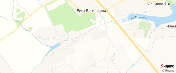 Карта деревни Риги-Васильевки в Тульской области с улицами и номерами домов