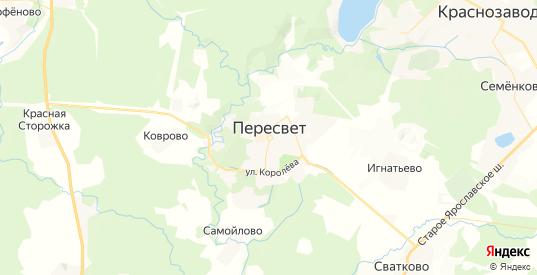 Карта Пересвета с улицами и домами подробная. Показать со спутника номера домов онлайн