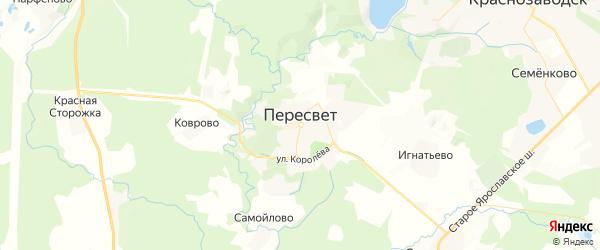 Карта Пересвета с районами, улицами и номерами домов
