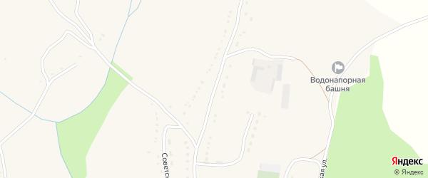 Центральная улица на карте села Сосновки Курской области с номерами домов