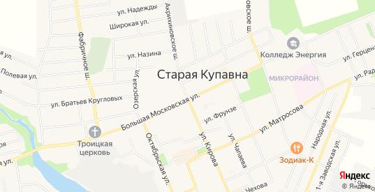 Карта микрорайона Лесная Купавна в Старой Купавне с улицами, домами и почтовыми отделениями со спутника онлайн
