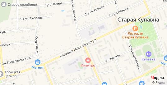Хрустальная улица в Старой Купавне с номерами домов на карте. Спутник и схема онлайн