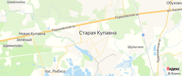 Карта Старой Купавны с районами, улицами и номерами домов: Старая Купавна на карте России