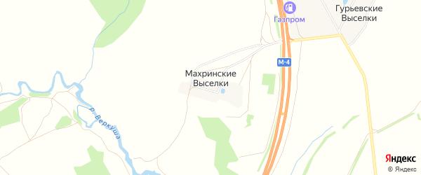 Карта деревни Махринские Выселков в Тульской области с улицами и номерами домов