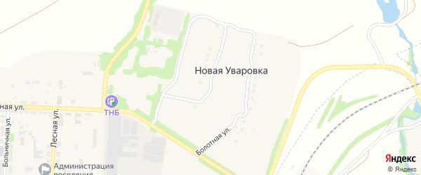 Болотная улица на карте деревни Новой Уваровки Тульской области с номерами домов