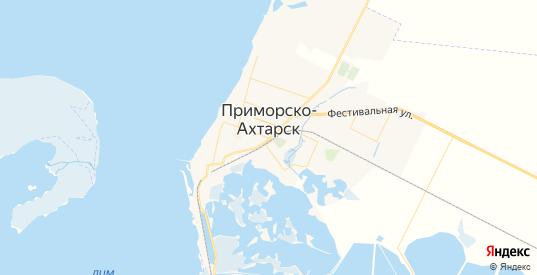 Карта Приморско-Ахтарска с улицами и домами подробная. Показать со спутника номера домов онлайн