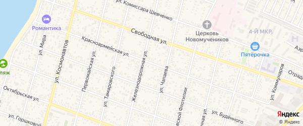 Красноармейская улица на карте Приморско-Ахтарска с номерами домов