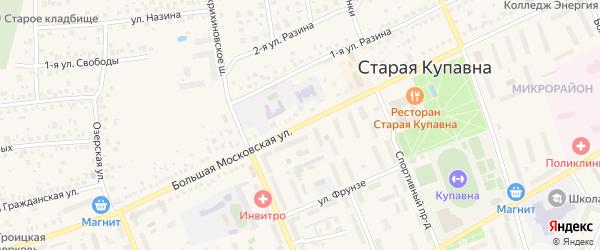 Большая Московская улица на карте Старой Купавны с номерами домов
