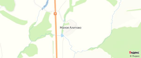 Карта деревни Малое Алитово в Тульской области с улицами и номерами домов