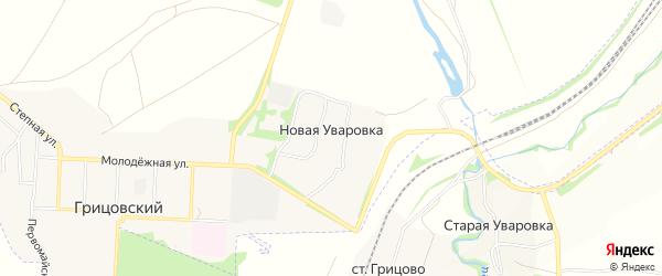 Карта деревни Новой Уваровки в Тульской области с улицами и номерами домов