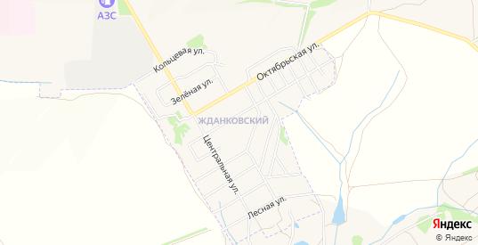 Карта микрорайона Жданковский в Богородицке с улицами, домами и почтовыми отделениями со спутника онлайн