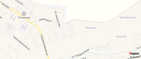Улица Вагонников на карте Узловой с номерами домов