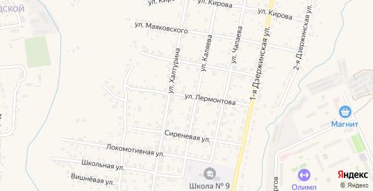 Улица Лермонтова в Кашире с номерами домов на карте. Спутник и схема онлайн