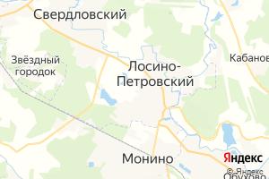 Карта г. Лосино-Петровский Московская область