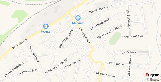 Почтовый переулок в Кашире с номерами домов на карте. Спутник и схема онлайн