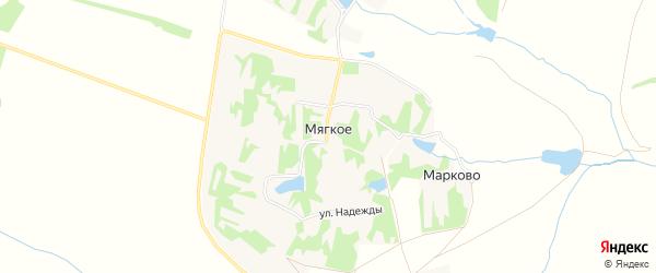 Карта Мягкого села в Липецкой области с улицами и номерами домов