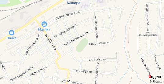 Стрелецкий переулок в Кашире с номерами домов на карте. Спутник и схема онлайн
