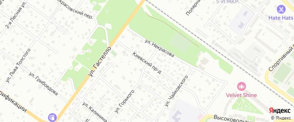 Киевский проезд на карте Раменского с номерами домов