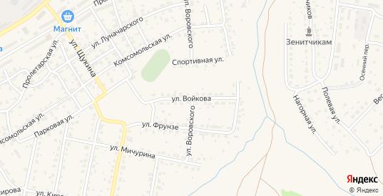 Улица Войкова в Кашире с номерами домов на карте. Спутник и схема онлайн