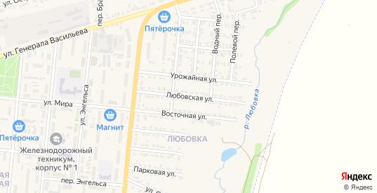 Любовская улица в Узловой с номерами домов на карте. Спутник и схема онлайн