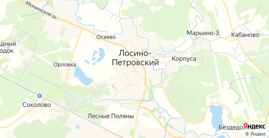 Карта Лосино-Петровского с улицами и домами подробная. Показать со спутника номера домов онлайн
