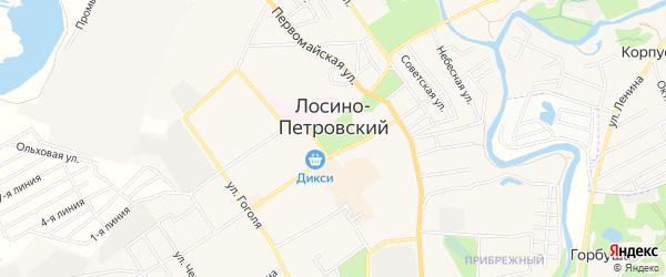 Сад Медик СНТ на карте Лосино-Петровского с номерами домов