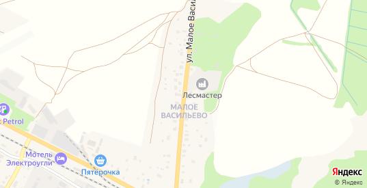 Улица Малое Васильево в Электроуглях с номерами домов на карте. Спутник и схема онлайн