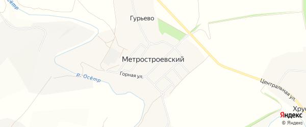 Карта Метростроевского поселка в Тульской области с улицами и номерами домов