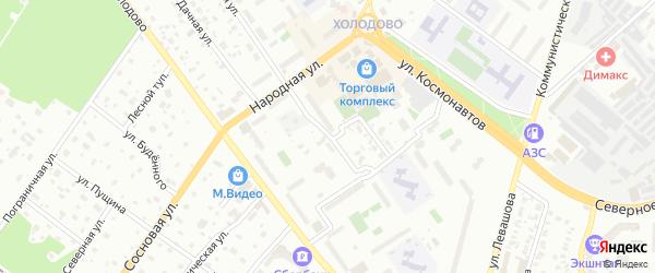 1-я Фабричная улица на карте Раменского с номерами домов